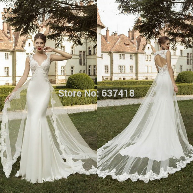 Lace Wedding Dress with Detachable Skirt