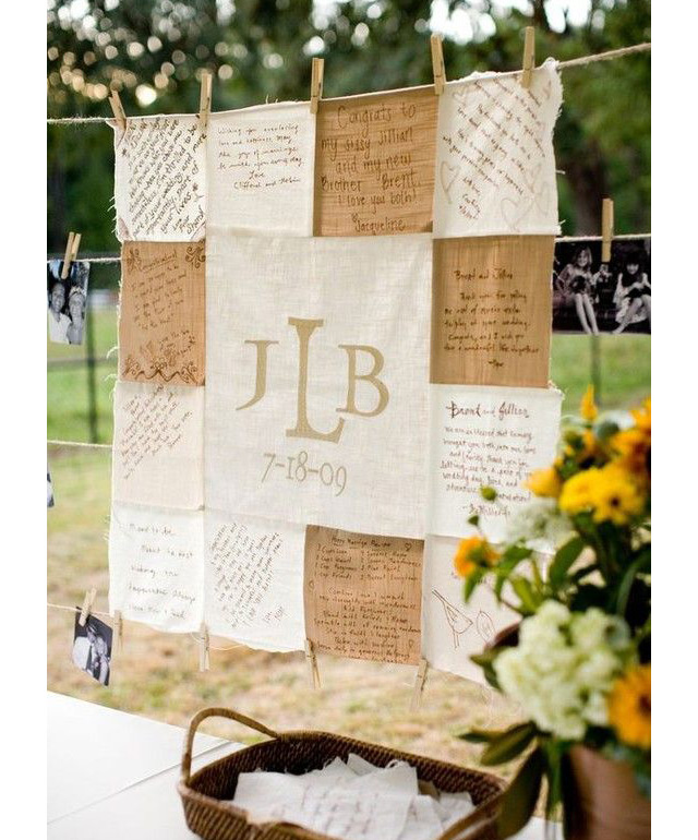 Wedding Guest Signature Ideas: Wedding Quilt Sign