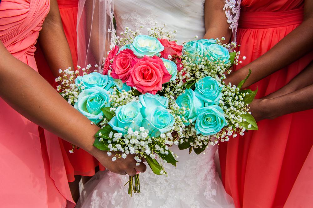 Coral And Turquoise Wedding: Coral And Turquoise Wedding Bouquets