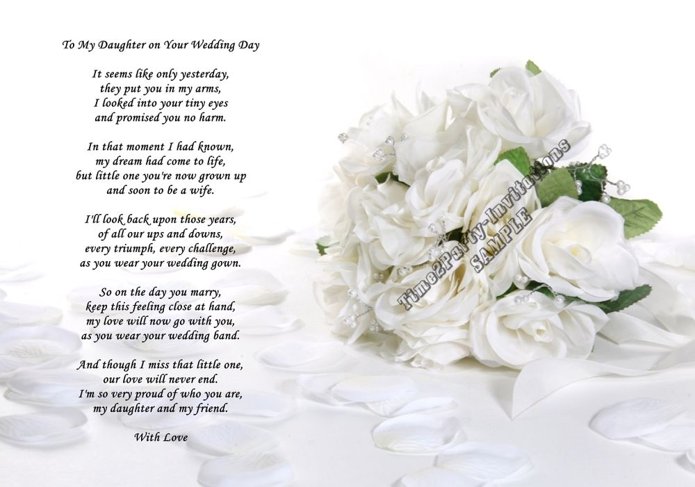 Wedding Gift For My Son : Wedding Day Poem For Son And Daughter In Law