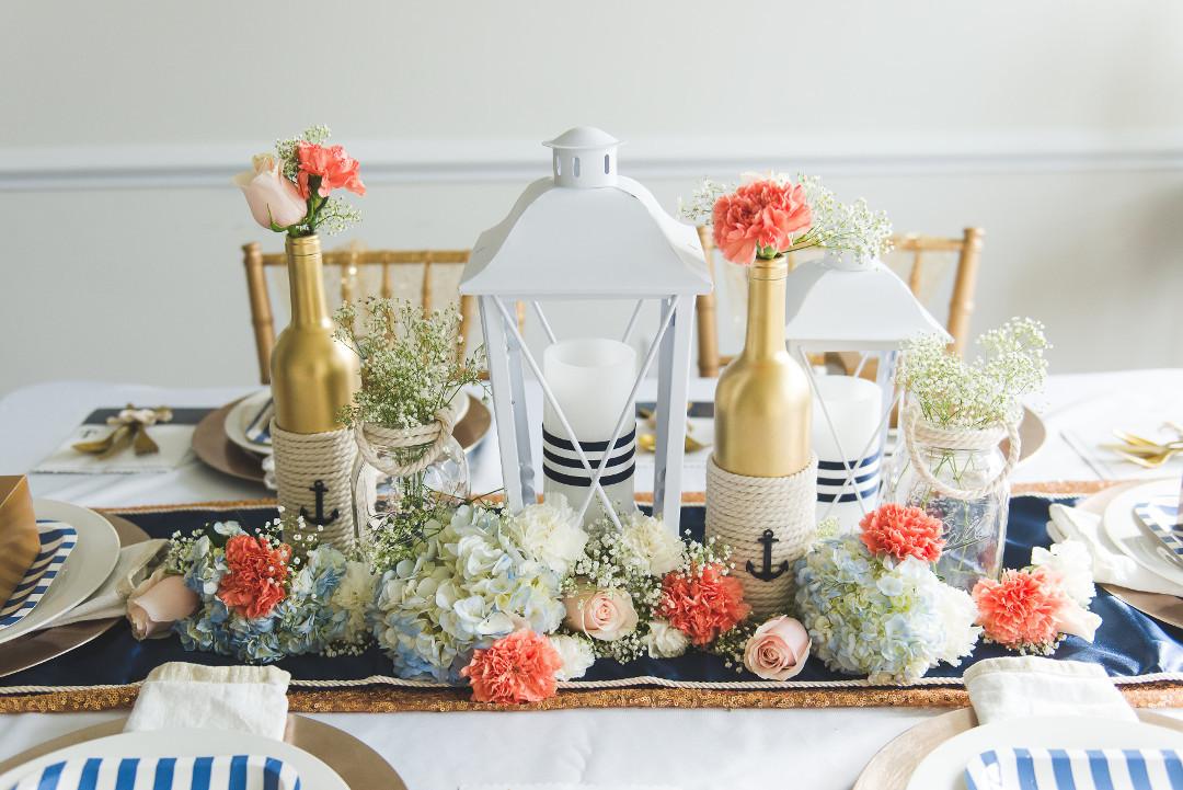 Nautical themed wedding centerpieces diy nautical wedding centerpiece junglespirit Images