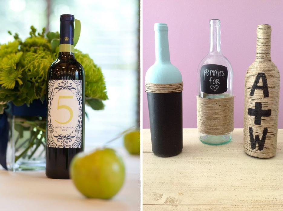 wine bottle crafts wedding. Black Bedroom Furniture Sets. Home Design Ideas