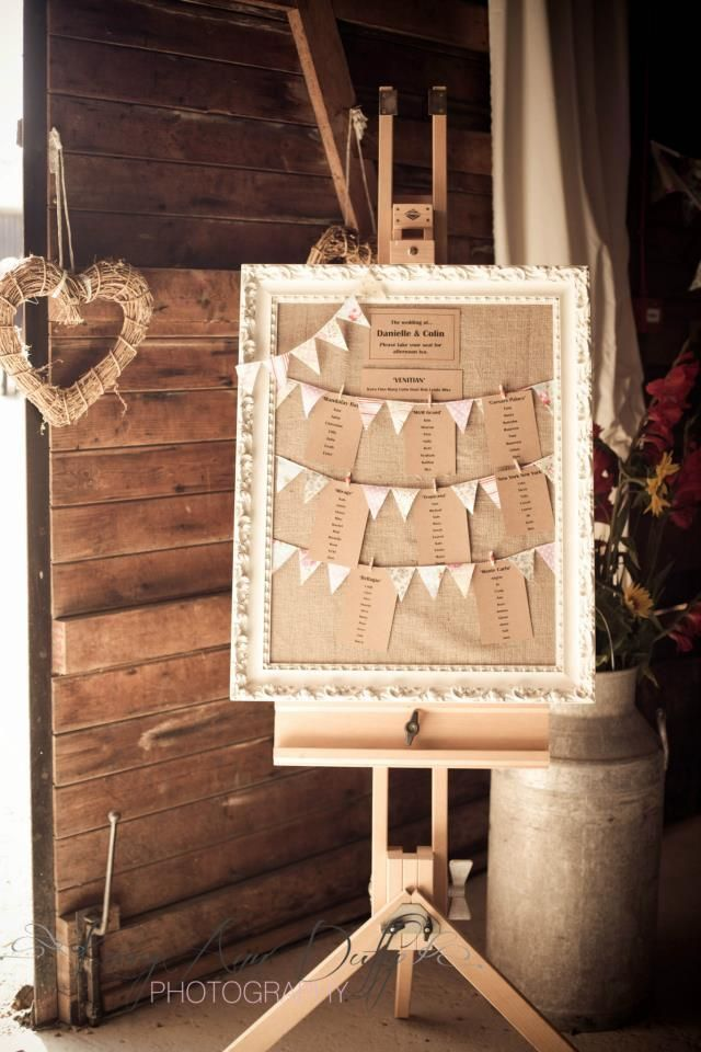 easel for wedding table plan