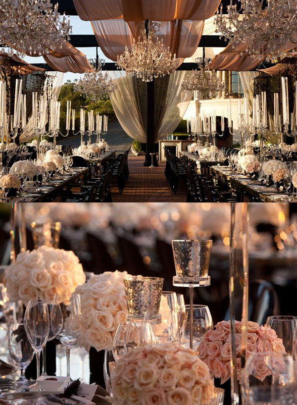 Classy And Elegant Black And White Flooring Design Ideas: Simple Elegant Wedding Reception Ideas
