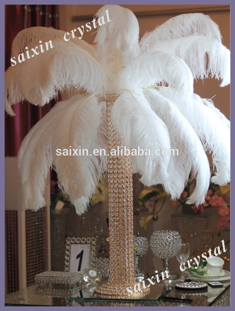 Outstanding Ostrich Feather Centerpieces For Weddings Vignette