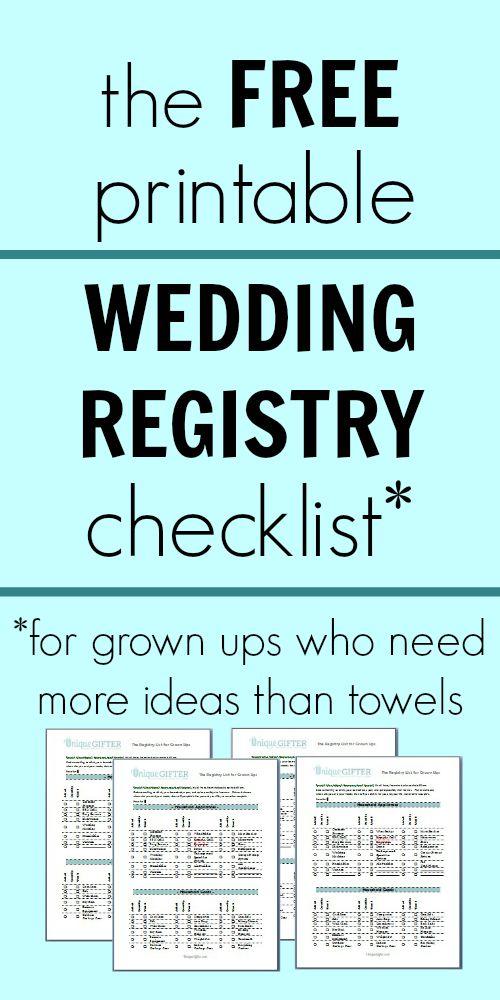 Wedding registry checklist printable hatchurbanskript wedding registry checklist printable junglespirit Images