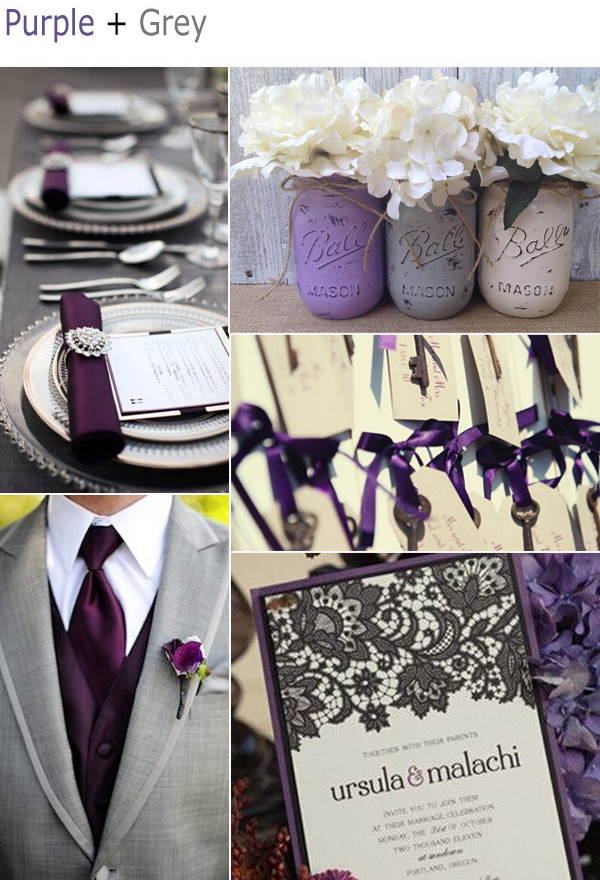 Wedding Colors Purple And Gray