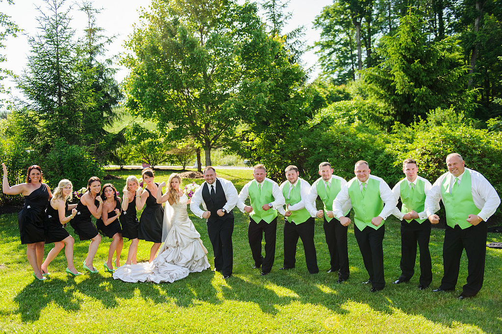 Green White And Black Wedding Theme