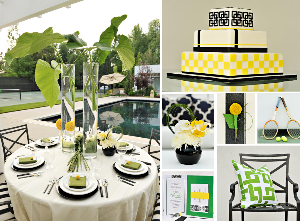 Green Yellow And Black Wedding Inspiration