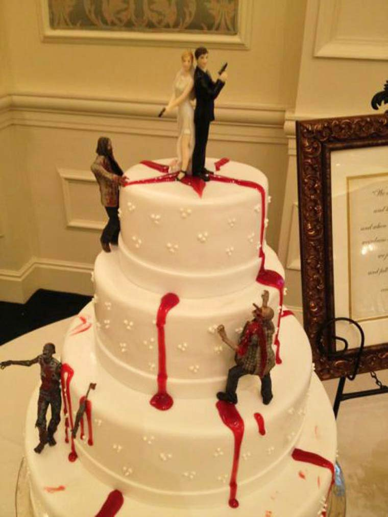 Zombies Running Bride And Groom Funny Wedding Cake Topper Here Comes The Crazy With 17 Pictures