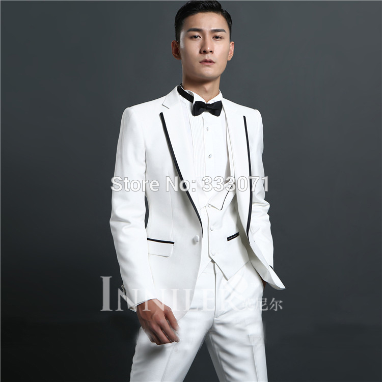 White Wedding Tuxedos For Groom