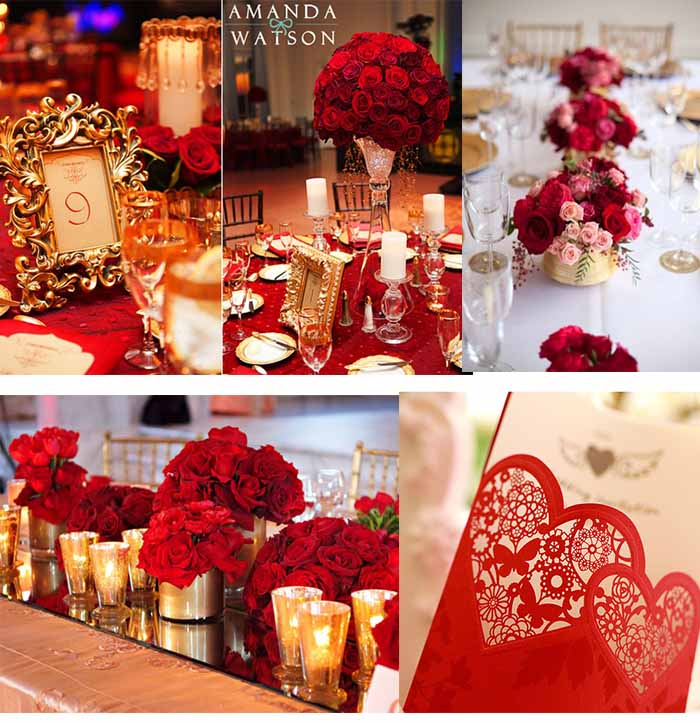 Crimson And Cream Wedding Ideas
