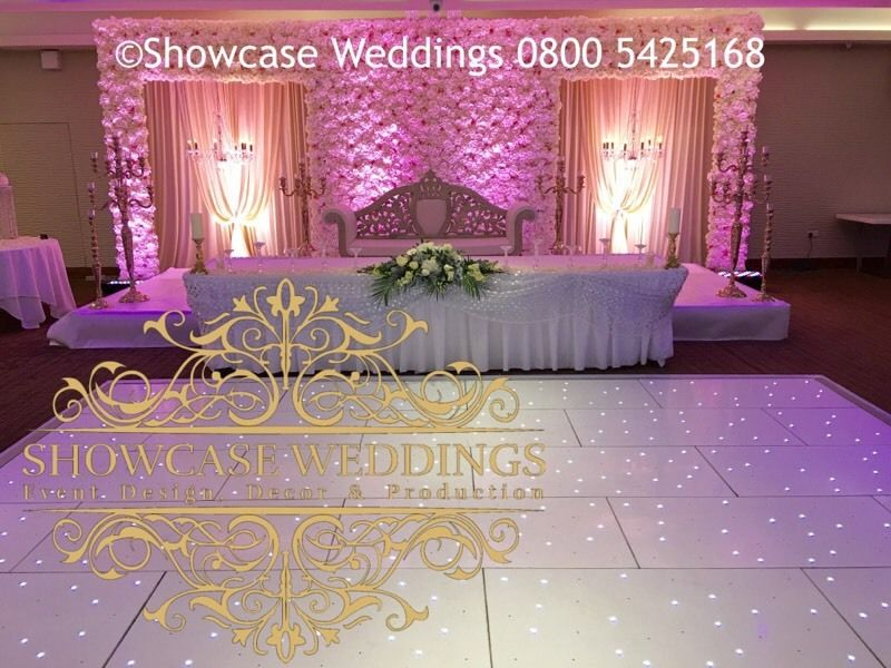 Wedding stage flowers for Asian wedding decoration hire
