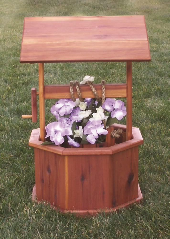 homemade wishing well for wedding, Garden idea