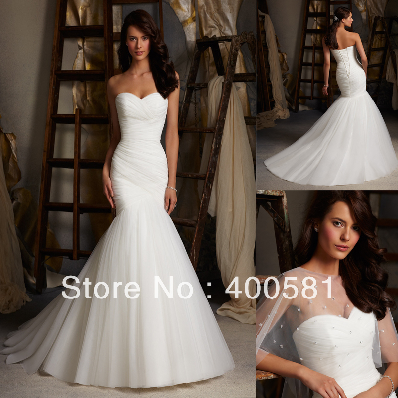 Mermaid Style Corset Wedding Dress