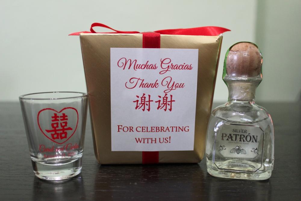 Mini Tequila Bottles Wedding Favors
