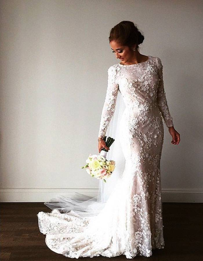 Modest Wedding Gowns. Featured Dress Rosa Clara. Charming Appliques ...