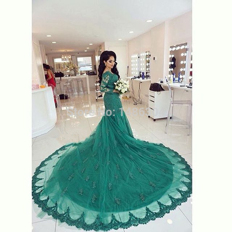 Blue and Green Wedding Dresses