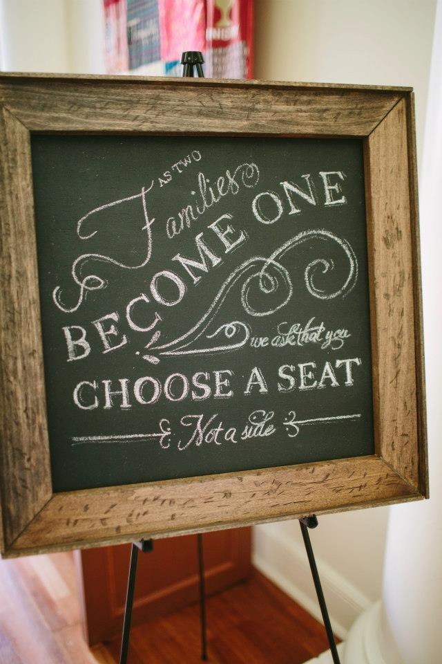 Pick Any Seat, Not A Side Sign For Ceremony (help Me Find It ...