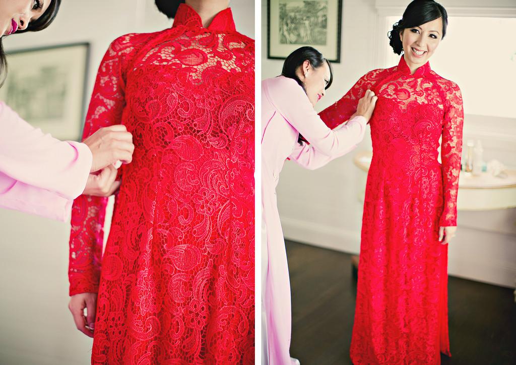 vietnamese wedding dress ao dai | Wedding