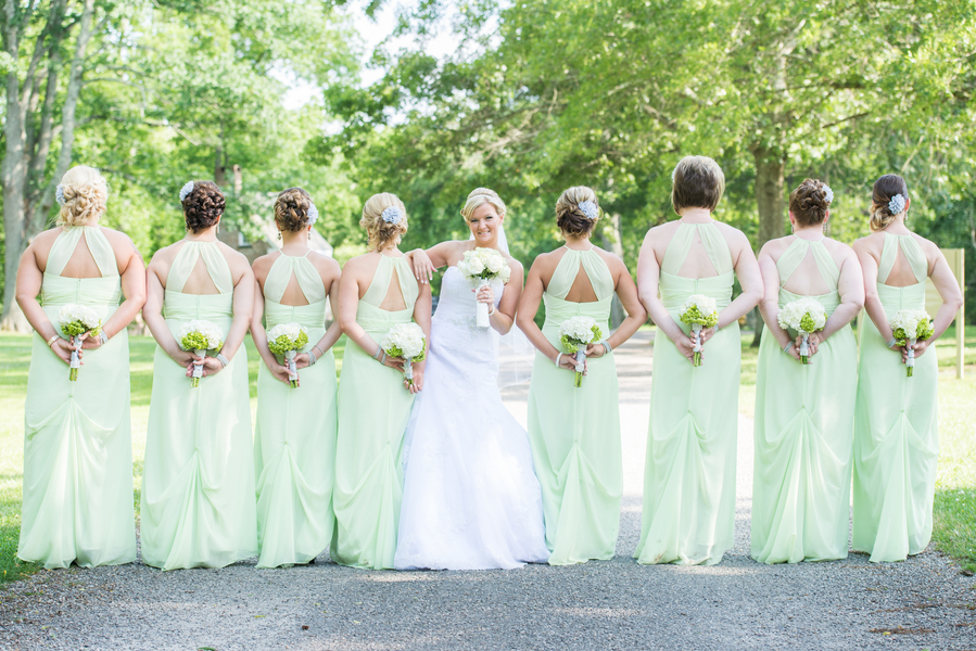 Pistachio Green Grey Summer Wedding