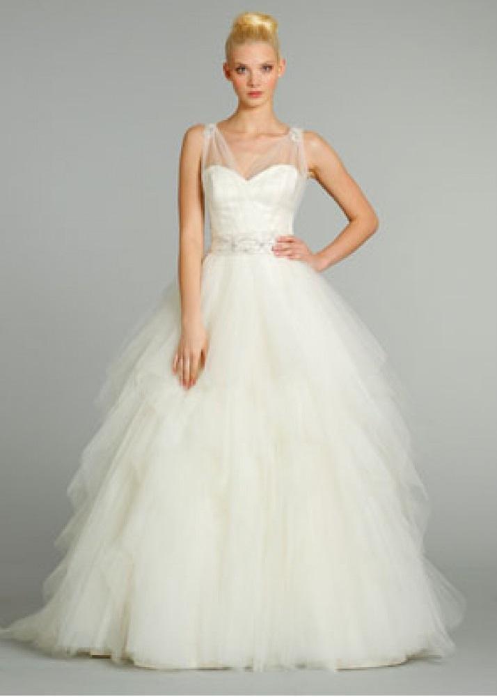 Sheer Top Wedding Dress