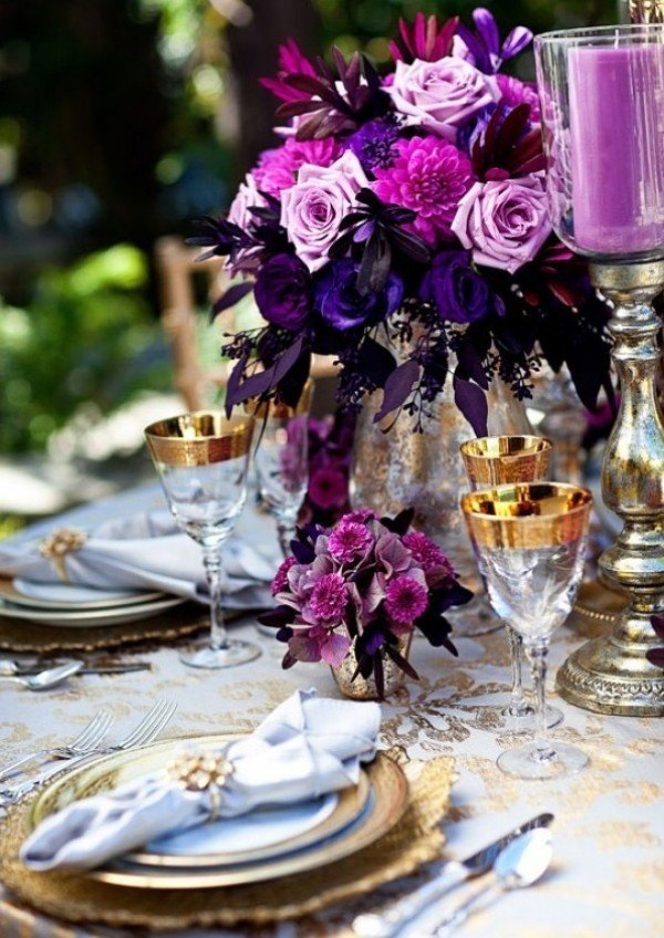 Purple Gold Wedding