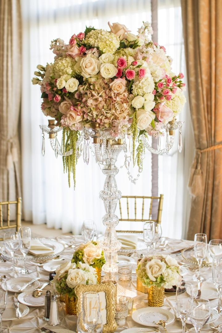 Wedding Flowers Candelabra Centerpiece Reception DÃ Cor Photos
