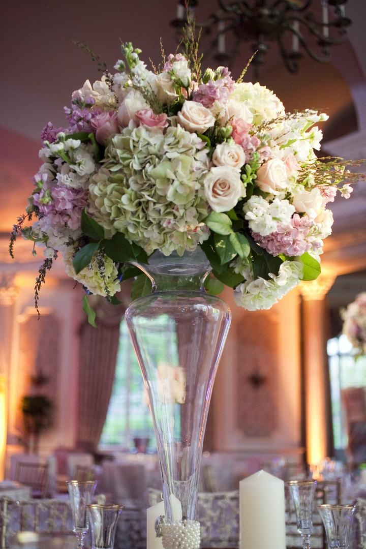 Purple Centerpieces For Wedding Tables : Light purple wedding centerpieces