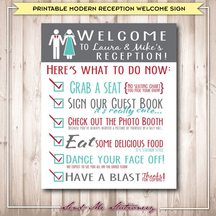 Reception Signs Wedding