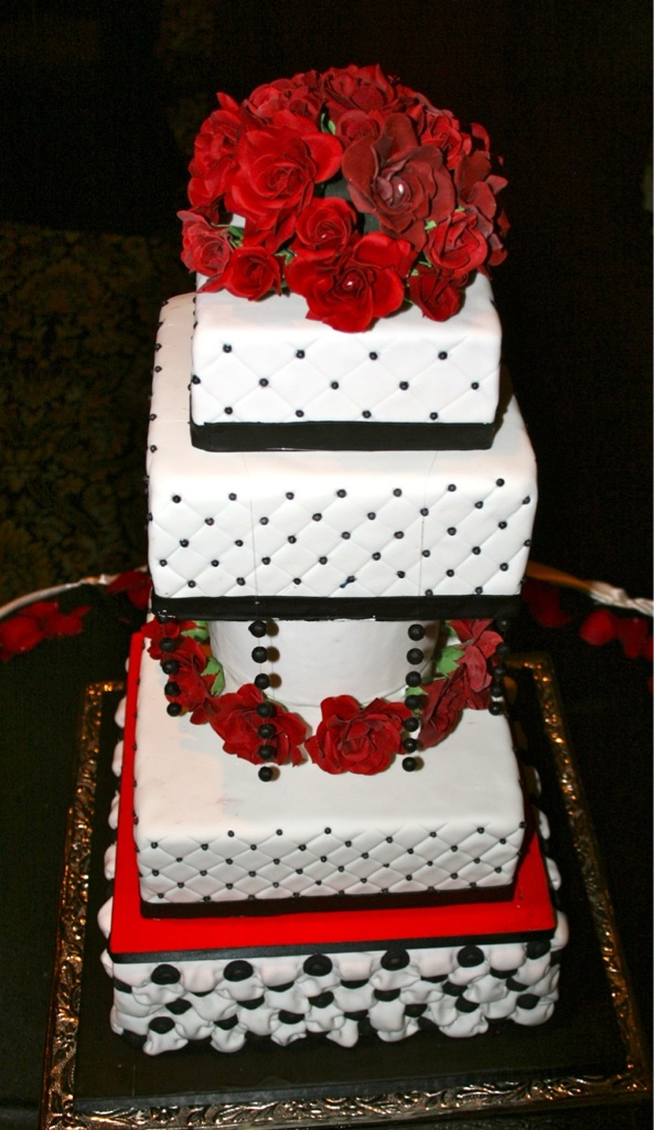 Red And Black Wedding Cakes On Wedding Cakes With Red White Black ...