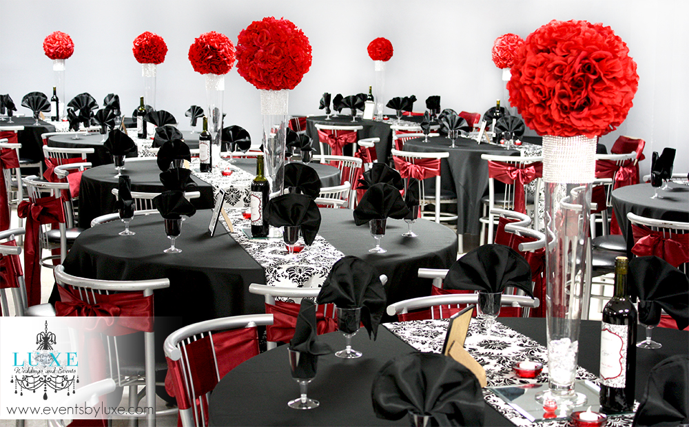 Red And Black Wedding Theme Ideas Modern Themes In