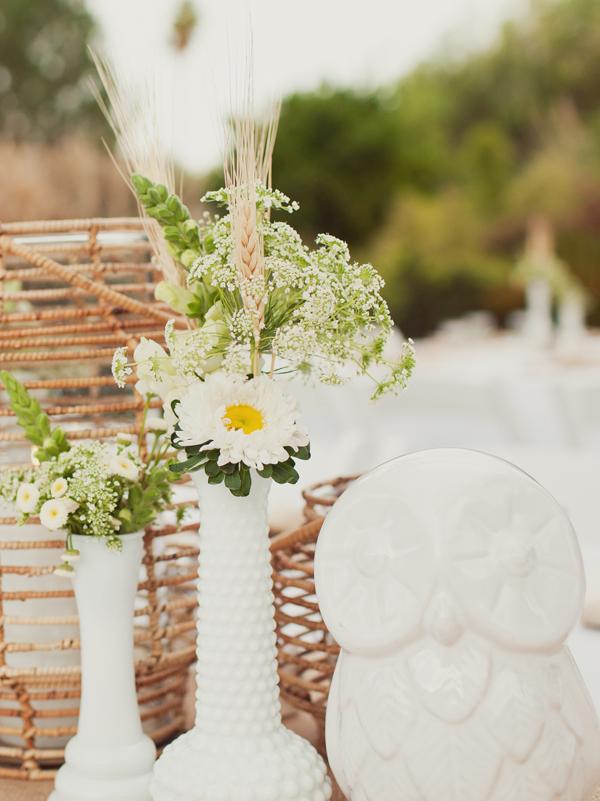 Rustic Beach Wedding Centerpieces