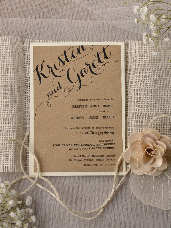 Rustic Wedding Invitations Template Ideas
