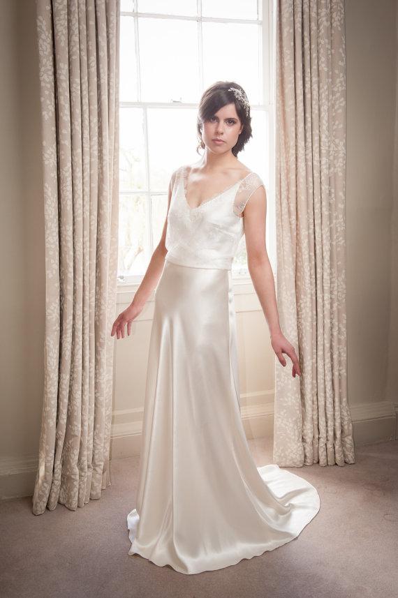 Wedding Dress Satin Silk