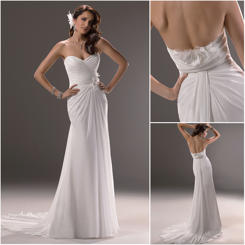 Plain Wedding Dress On Emasscraft Org Sheath Sweetheart Court Train