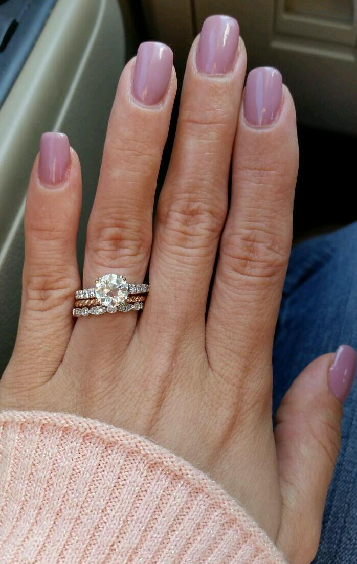 Show Me Your Moissanite Yellow Gold Rings And Also Mixed Metal