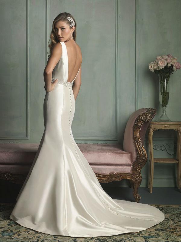 Sleek Satin Wedding Dress