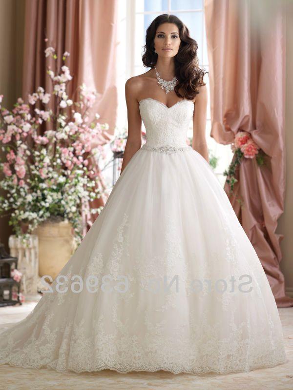 strapless wedding gowns
