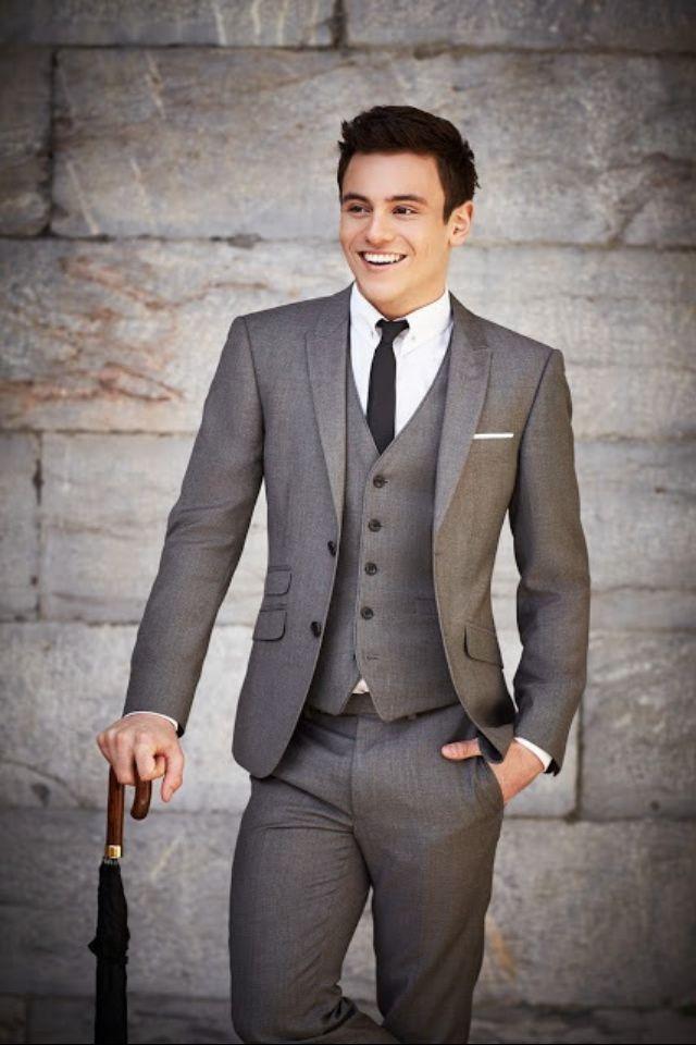 Grey Suit With Vest Wedding