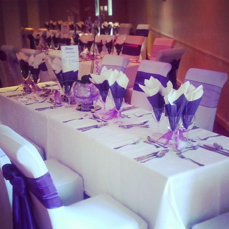 Purple Wedding Table Settings. Vintage Table Decor For Weddings On ...