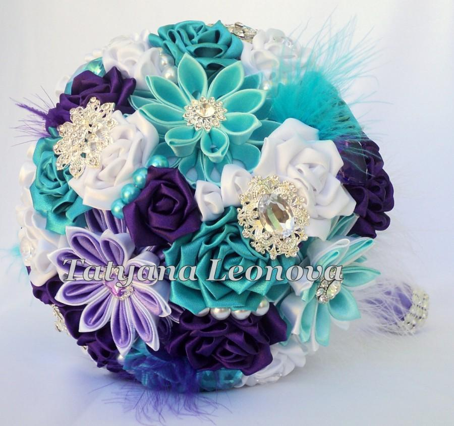 Turquoise And Purple Wedding: Turquoise And White Wedding Flowers