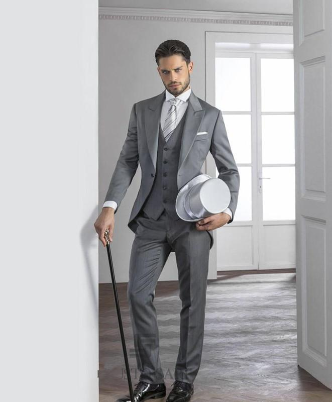 Grey Suit To A Wedding Dress Yy
