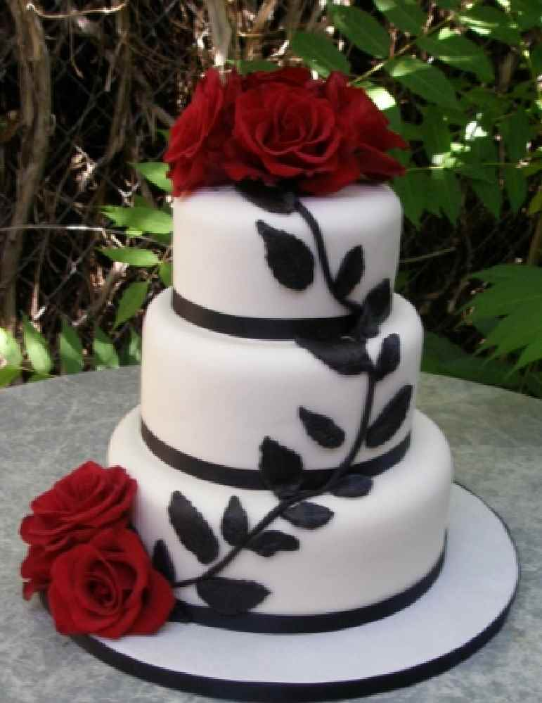 Wedding Cake Ideas Red And Black