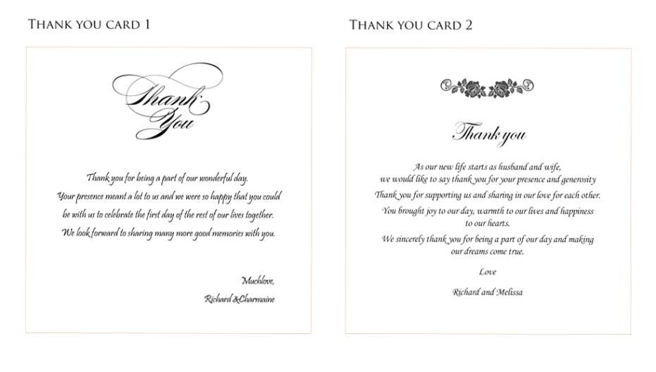 Thank You Card Wedding Gift: Best Wedding Thank You Gifts