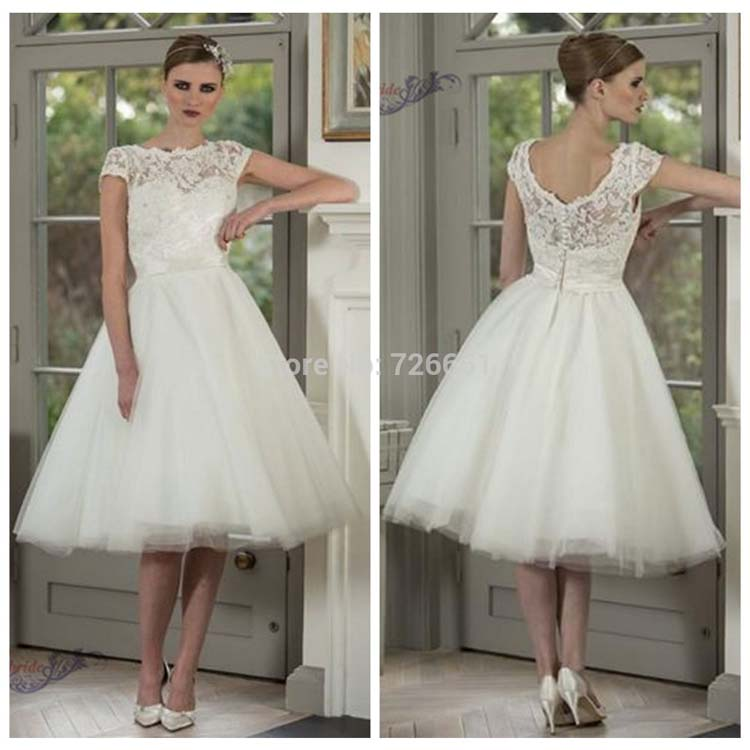 Wedding Dresses For Older Women Tea Length