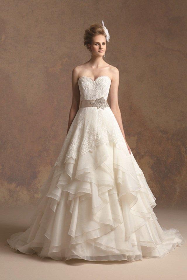 Layered Ruffle Wedding Dress