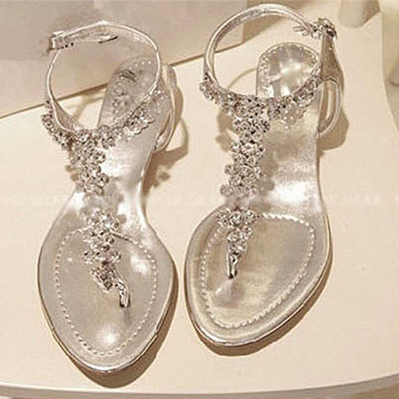 Wedding flat sandals for Flat dress sandals for weddings