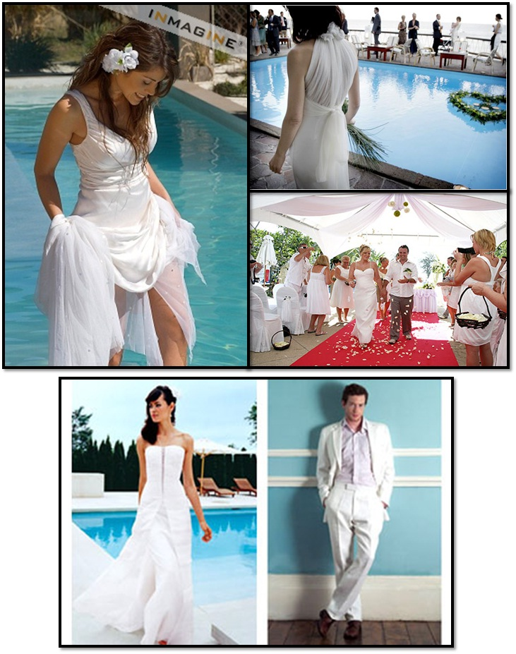 Unique Pool Wedding Dresses