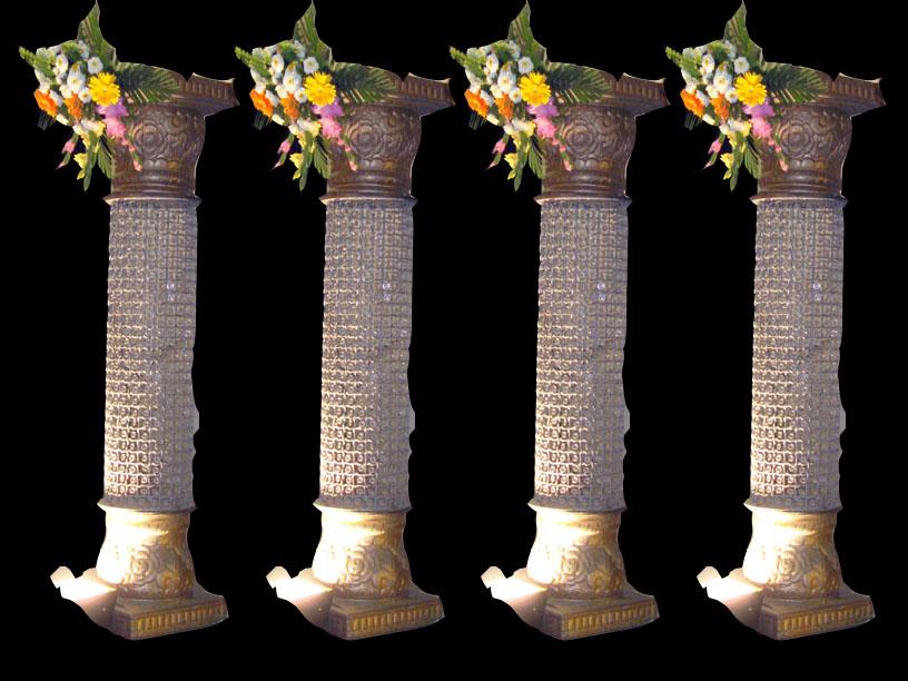 Decorated wedding pillars junglespirit Choice Image